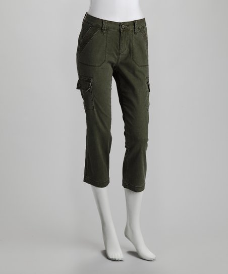 Jag Caper Berry Cedar Slim Cargo Cropped Pants
