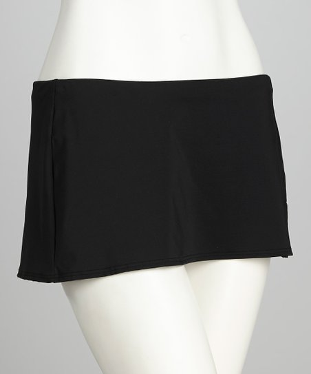 Black Skirted Bikini Bottoms