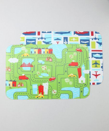Airplane & Roadway Placemat Set