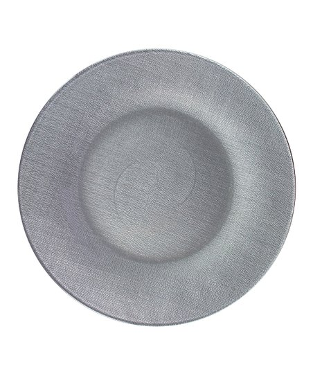 Silver Pamuk Charger Plate