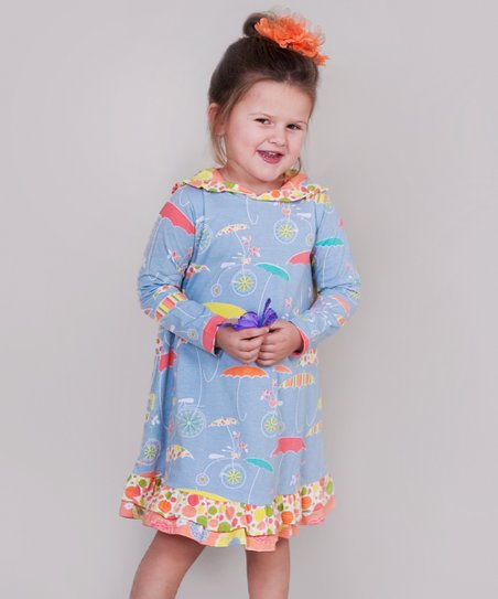 Periwinkle Umbrella Sophie Dress - Infant, Toddler & Girls