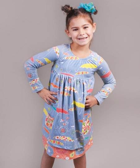 Periwinkle Umbrella Karen Dress - Infant & Girls