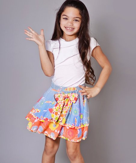 Periwinkle Umbrella Claire Tee & Skirt - Infant & Girls