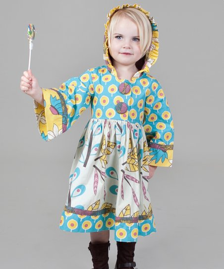 Yellow & Aqua Dazzle Hannah Dress - Toddler & Girls