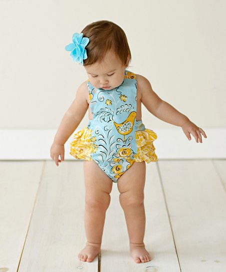 Poem Ruffle Bodysuit - Toddler