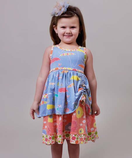 Periwinkle Umbrella Tenley Dress - Infant & Girls