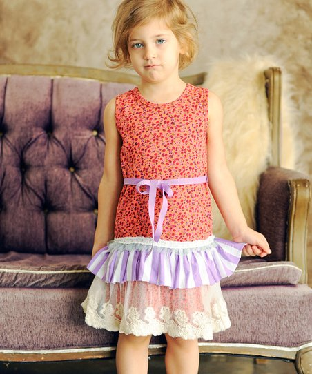 Peach Avery Dress - Toddler & Girls