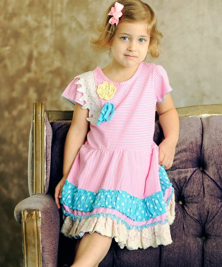 Pink Olivia Twirl Dress - Infant, Toddler & Girls