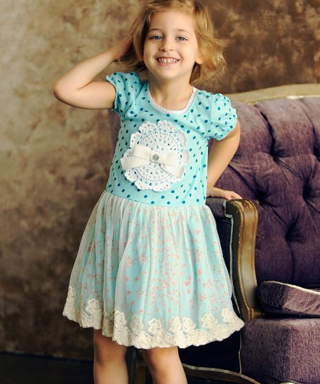Aqua Ema Dress - Toddler & Girls