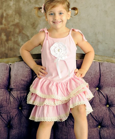 Pink Ruffle Lorette Dress - Infant, Toddler & Girls