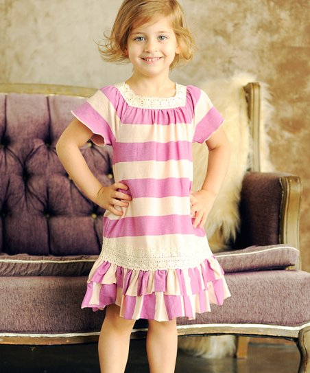 Pink Ruffle Alexa Dress - Infant, Toddler & Girls
