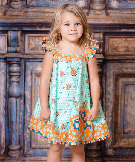 Aqua Sailboat Swing Dress - Infant, Toddler & Girls