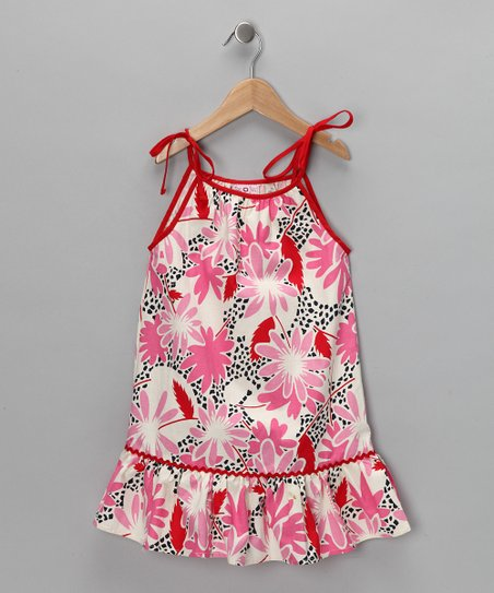 Pink Shoulder-Tie Dress - Infant, Toddler & Girls