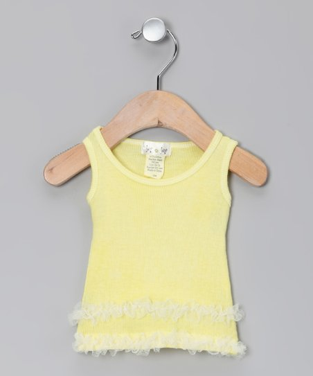 Yellow Ruffle Tank - Infant, Toddler & Girls