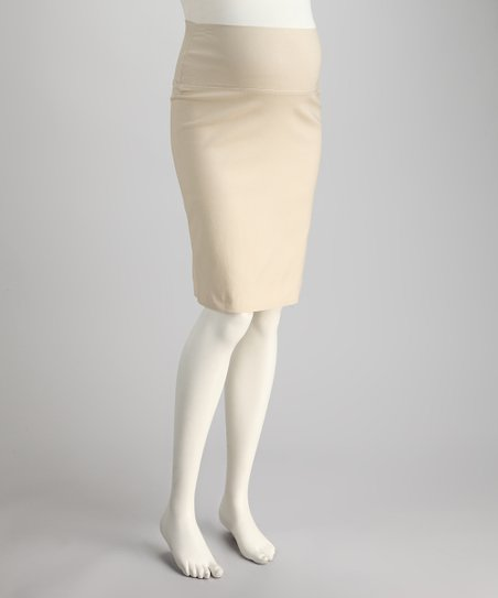 Stone Sarah Mid-Belly Maternity Pencil Skirt
