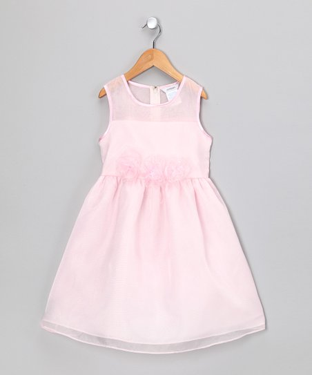 Light Pink Rosette Dress - Toddler & Girls