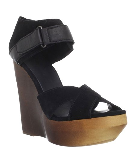 Black Toni Wedge