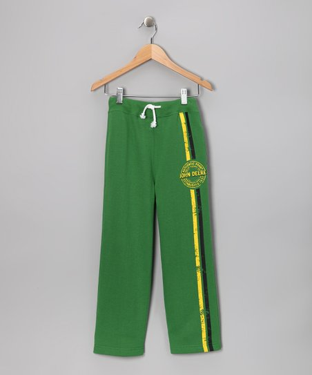 New York-Designed Green 'John Deere' Sweatpants - Boys