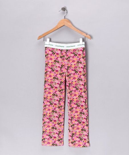 New York-Designed Pink Fleece Pajama Pants - Girls