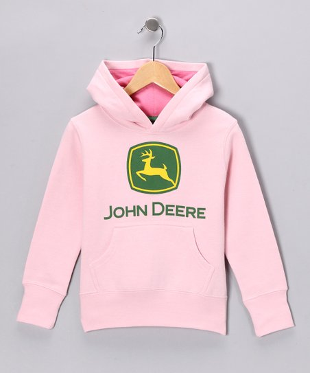 Pink 'John Deere' Hoodie - Infant, Toddler & Girls