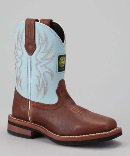 Blue & Brown Cowboy Boot