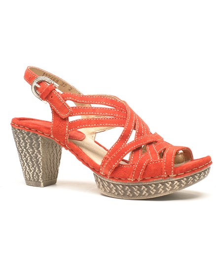Red Julia Sandal