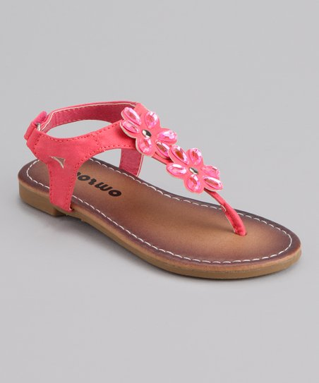 Coral Double Flower Sandal