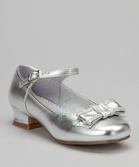 Silver Bow Mary Jane