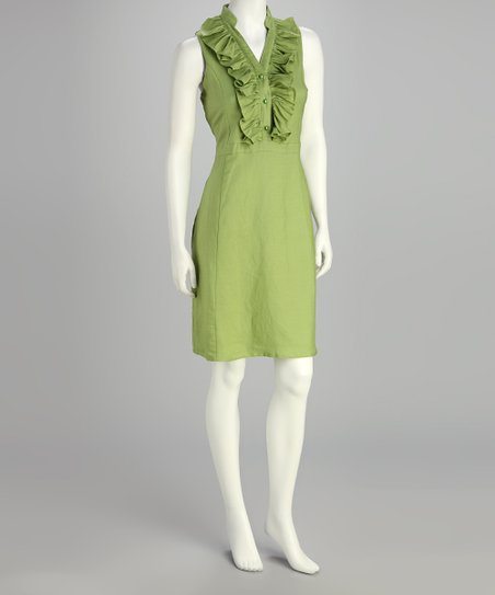 Celery Ruffle Dress