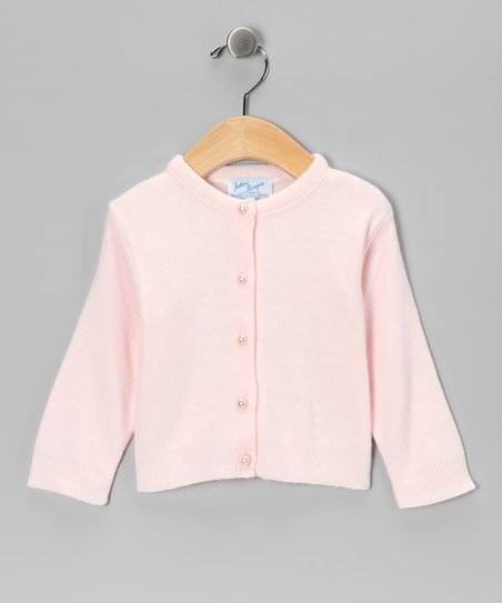 Julius Berger Pink Classic Cardigan - Infant