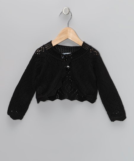 Julius Berger Black Crocheted Bolero - Toddler & Girls