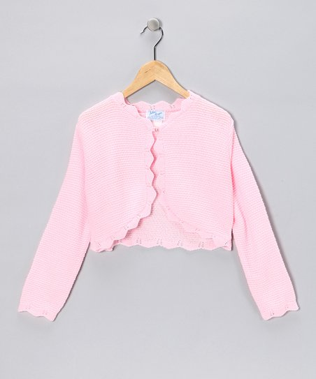 Julius Berger Pink Knit Bolero - Girls