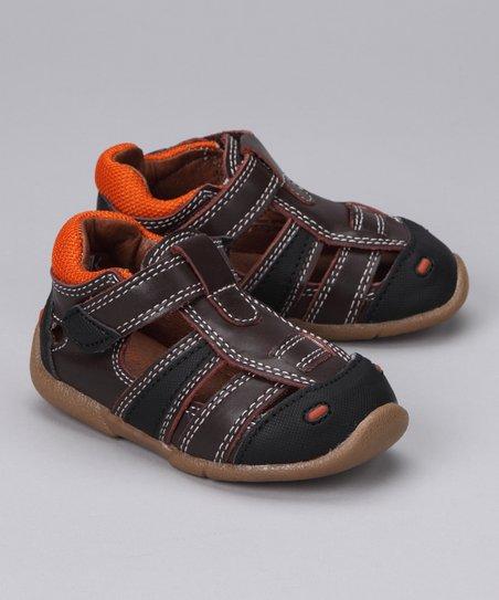 Brown & Orange Maxwell Closed-Toe Sandal