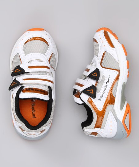 Black & Orange Rachet Sneaker