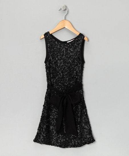 Black Sequin Dress - Girls