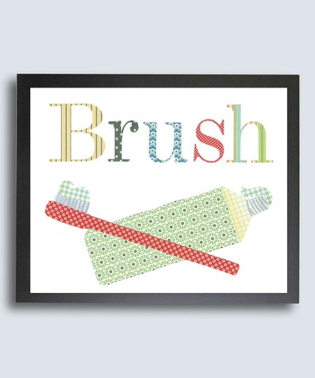 Just Bunch Designs Bathroom Manners 'Brush' Print