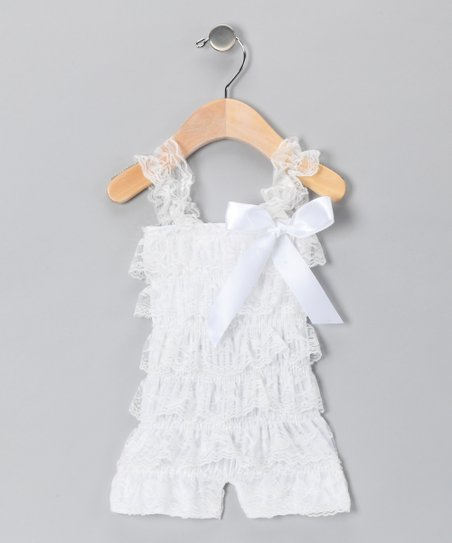 White Lace Romper - Infant, Toddler &amp; Girls