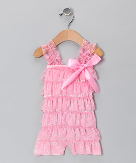 Pink Lace Romper - Infant & Toddler