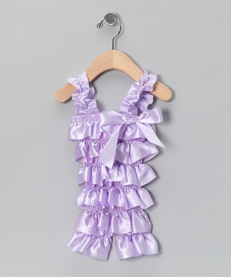 Lavender Satin Ruffle Romper - Infant &amp; Toddler