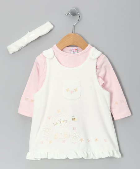 Cream Pocket Jumper Set - Infant