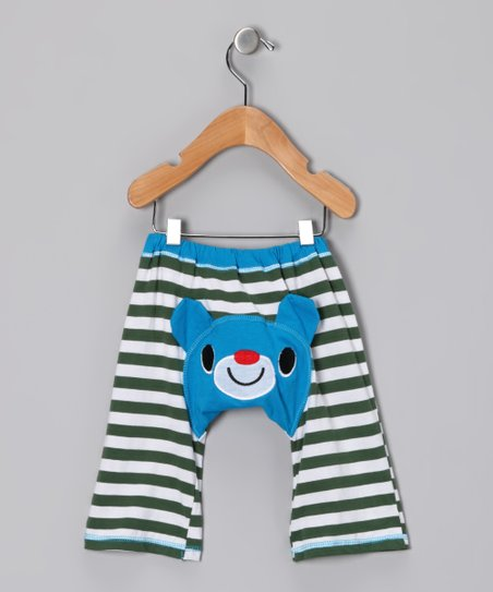 Blue &amp; Green Bear Pants - Infant &amp; Toddler