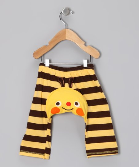 Yellow & Brown Bee Pants - Infant