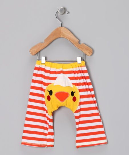 Orange & Yellow Chick Pants - Infant & Toddler
