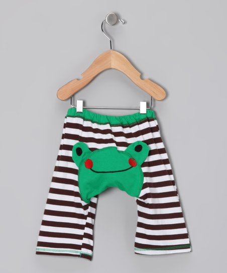 Green & Black Frog Pants - Infant & Toddler