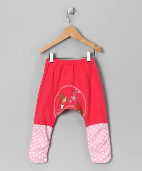 Pink 'Small Friends' Pants - Infant