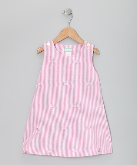 Raspberry &amp; Pink Sailboat Jumper - Toddler &amp; Girls
