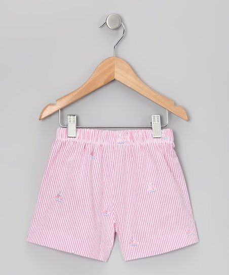 Raspberry &amp; Pink Sailboat Shorts - Infant, Toddler &amp; Girls
