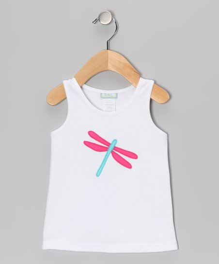 White Dragonfly Tank - Infant & Toddler