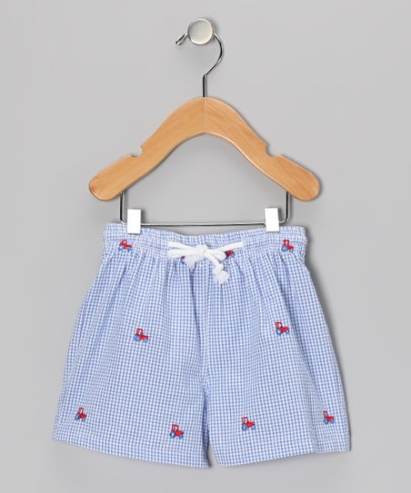 Blue Tractor Swim Trunks - Infant, Toddler & Boys
