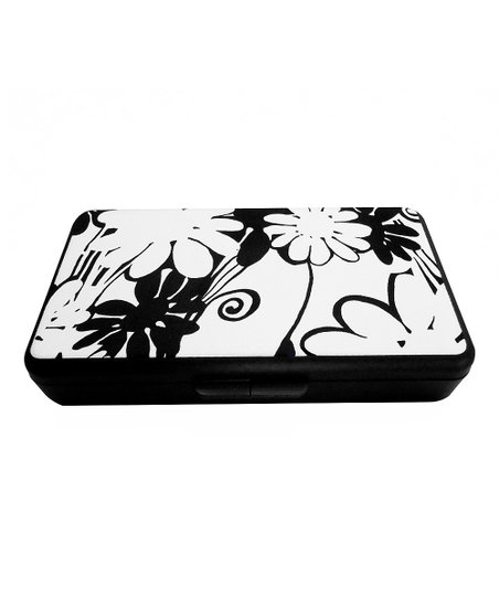 Black &amp; Ecru Mod Floral Wipes Clutch